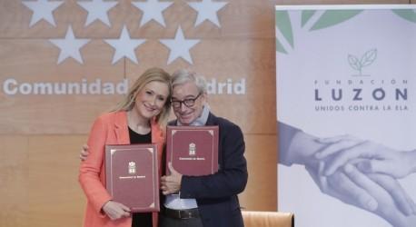 LA COMUNIDAD DE MADRID SE SUMA A LA FUNDACIÓN LUZÓN EN LA LUCHA CONTRA LA ELA