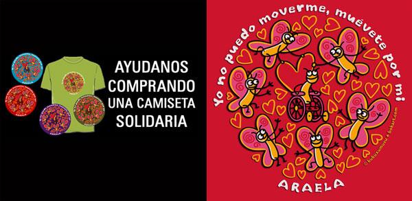 Camisetas Solidarias KUKUXUMUSU para ARAELA