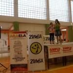 Presentadoras del Maratón Solidario de Zumba