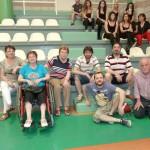Grupo de Socios y Amigos de ARAELA participando en el Maratón de Zumba Solidario.