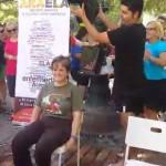 Marta Valencia (Presidenta de COCEMFE ARAGÓN), Mojandose por la ELA