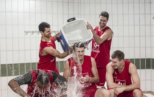 El CAI Zaragoza acepta el Ice Bucket Challenge por la ELA