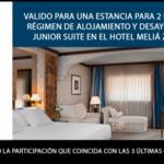 Bono Hotel Melia Sorteo