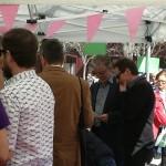 Pedro Santisteve, Alcalde de Zaragoza visita los diferentes Stands de la Feria