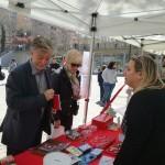 Pedro Santisteve, Alcalde de Zaragoza visita nuestro Stand